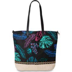 Torebka z nadrukiem w motywy dżungli bonprix naturalno-kolorowy. Torebki shopper damskie marki bonprix. Za 27.99 zł.