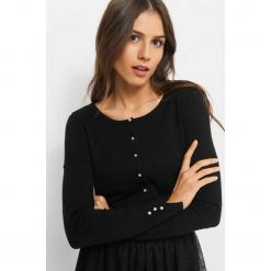 Sweter w groszki 3D. Czarne kardigany damskie Orsay, w grochy, z bawełny. Za 49.99 zł.