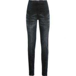 Dżinsy  modelujące sylwetkę JEGGINSY bonprix czarny. Jeansy damskie marki bonprix. Za 59.99 zł.