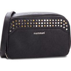 Torebka MONNARI - BAG5220 Black. Czarne listonoszki damskie Monnari, ze skóry ekologicznej. W wyprzedaży za 139.00 zł.