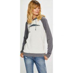 Roxy - Bluza. Szare bluzy damskie Roxy, z nadrukiem, z bawełny. Za 279.90 zł.