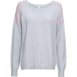 Sweter z kontrastowymi szwami bonprix szary. Swetry damskie marki KALENJI. Za 99.99 zł.