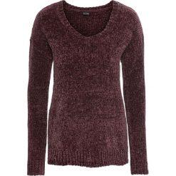Sweter z szenili: must have bonprix oberżyna. Swetry damskie marki bonprix. Za 74.99 zł.