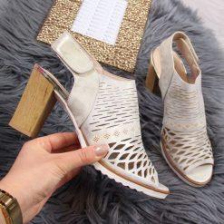 b68b689b Ażurowe sandały na szpilce - Sandały damskie - Kolekcja lato 2019 ...