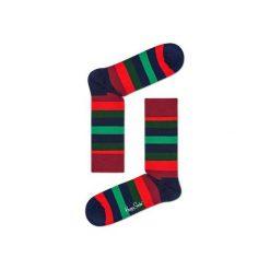Skarpetki Happy Socks - Holiday XMAS (STR01-7006). Różowe skarpety męskie Happy Socks, w kolorowe wzory, z bawełny. Za 34.90 zł.
