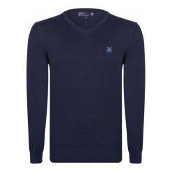 Giorgio Di Mare Sweter Męski M Ciemny Niebieski. Niebieskie swetry przez głowę męskie Giorgio di Mare, z bawełny. W wyprzedaży za 169.00 zł.