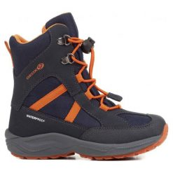 Geox Buty Zimowe Chłopięce New Alaska 32 Niebiesko-Pomarańczowe. Brązowe buty zimowe chłopięce Geox, z gumy. Za 329.00 zł.