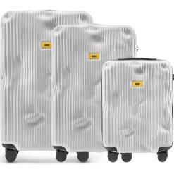 Walizki Stripe w zestawie 3 el. Bianco White. Walizki męskie Crash Baggage, z materiału. Za 2,796.00 zł.