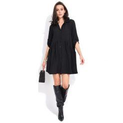 Fille Du Couturier Sukienka Damska Oriane 36 Czarny. Czarne sukienki damskie Fille Du Couturier, z koszulowym kołnierzykiem. Za 209.00 zł.