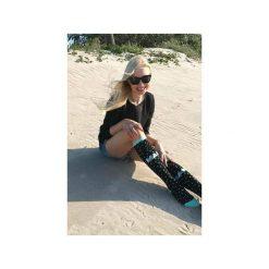 Podkolanówki Stardust Mint. Czarne skarpety damskie Mad socks, w kolorowe wzory, z bawełny. Za 39.00 zł.
