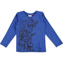 """Koszulka """"Tyler 702"""" w kolorze niebieskim. Zielone t-shirty dla chłopców marki Lego Wear Fashion, z bawełny, z długim rękawem. W wyprzedaży za 49.95 zł."""