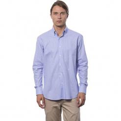 Koszula w kolorze chabrowym. Niebieskie koszule męskie Roberto Cavalli, Trussardi, w kratkę, button down. W wyprzedaży za 219.95 zł.