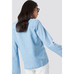 NA-KD Jeansowa koszula z szerokimi rękawami - Blue. Niebieskie koszule damskie NA-KD, z jeansu. Za 80.95 zł.