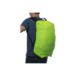 Pokrowiec Odblaskowy Na Plecak 15 - 35 L. Żółte plecaki damskie B'TWIN, z materiału, klasyczne. Za 29.99 zł.