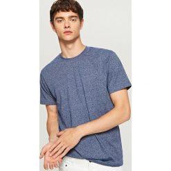 Melanżowy t-shirt - Granatowy. Niebieskie t-shirty męskie Reserved. Za 29.99 zł.