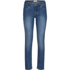 Dżinsy ze stretchem 7/8 bonprix niebieski. Jeansy damskie marki bonprix. Za 74.99 zł.