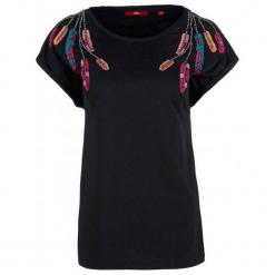 S.Oliver T-Shirt Damski 42 Czarny. Czarne t-shirty damskie S.Oliver, z bawełny. Za 100.00 zł.