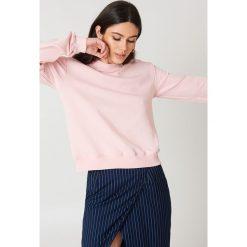 NA-KD Basic Bluza basic - Pink. Różowe bluzy damskie NA-KD Basic, prążkowane. Za 72.95 zł.