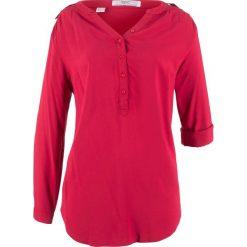 Tunika, długi rękaw bonprix ciemnoczerwony. Czerwone tuniki damskie bonprix, z długim rękawem. Za 74.99 zł.
