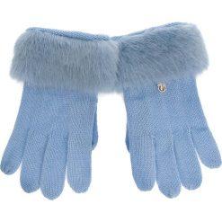 Rękawiczki Damskie TRUSSARDI JEANS - Gloves Knitted Ecofur 59Z00115 9Y099999 U115. Niebieskie rękawiczki damskie TRUSSARDI JEANS, z jeansu. Za 169.00 zł.