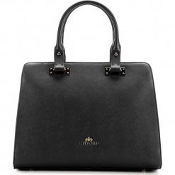 Torebka damska 85-4E-445-1. Czarne torebki do ręki damskie Wittchen, w paski. Za 559.00 zł.