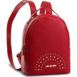 Plecak LOVE MOSCHINO - JC4117PP16LU0500  Rosso. Czerwone plecaki damskie Love Moschino, ze skóry ekologicznej, eleganckie. Za 719.00 zł.