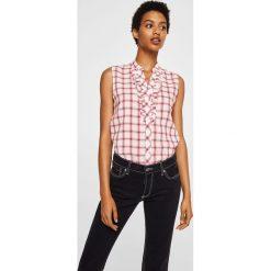 Mango - Koszula Praderac. Szare koszule damskie Mango, z krótkim rękawem. W wyprzedaży za 59.90 zł.