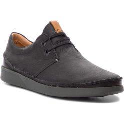 Półbuty CLARKS - Oakland Lace 261353947 Black Leather. Czarne półbuty na co dzień męskie Clarks, z materiału. W wyprzedaży za 319.00 zł.