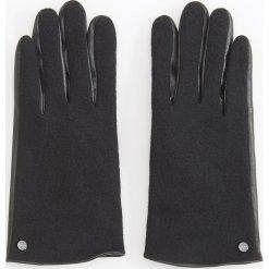 Rękawiczki z wełną - Czarny. Czarne rękawiczki damskie Reserved, z wełny. Za 49.99 zł.