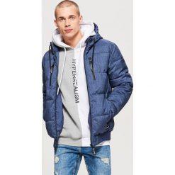 Pikowana kurtka na zimę - Granatowy. Niebieskie kurtki męskie Cropp, na zimę. Za 249.99 zł.