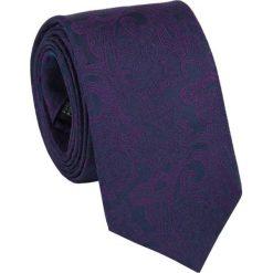 Jedwabny krawat KWGR000069. Fioletowe krawaty i muchy Giacomo Conti, z jedwabiu. Za 129.00 zł.