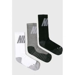 Nike - Skarpetki (3-pack). Szare skarpety męskie Nike, z bawełny. Za 59.90 zł.
