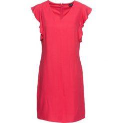 Sukienka z falbanami bonprix czerwony. Czerwone sukienki damskie bonprix, z dekoltem w serek. Za 129.99 zł.