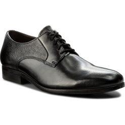 Półbuty CLARKS - Gilmore Lace 261339007 Black Leather. Czarne eleganckie półbuty Clarks, z materiału. W wyprzedaży za 189.00 zł.