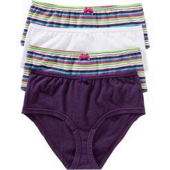 """Figi """"maxi panty"""" (4 pary) bonprix w kolorowe paski. Figi damskie marki KALENJI. Za 39.96 zł."""