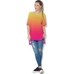 Colour Pleasure Koszulka CP-033  71 żółto-malinowa r. uniwersalny. Bluzki damskie marki Colour Pleasure. Za 76.57 zł.