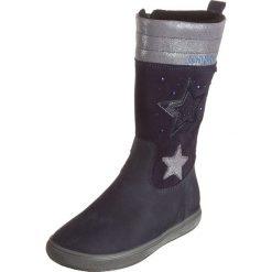 Skórzane kozaki w kolorze granatowym. Buty zimowe dziewczęce Zimowe obuwie dla dzieci. W wyprzedaży za 175.95 zł.