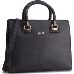 Torebka LIU JO - L Satchel Manhattan N68099 E0087 Nero 22222. Czarne torebki do ręki damskie Liu Jo, ze skóry ekologicznej. W wyprzedaży za 479.00 zł.
