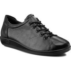 Półbuty ECCO Soft 9 24385301001 Black Płaskie Półbuty