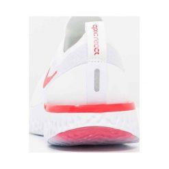 Nike Performance EPIC REACT FLYKNIT Obuwie do biegania treningowe white/university red/pure platinum. Buty sportowe chłopięce Nike Performance, z materiału. Za 549.00 zł.