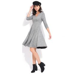 Fille Du Couturier Sukienka Damska Emeraude 36 Szary. Szare sukienki damskie Fille Du Couturier, z długim rękawem. Za 229.00 zł.