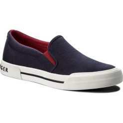 Tenisówki TOMMY HILFIGER - Heritage Textile Slip On Sneaker FM0FM01359 Tommy Navy 406. Niebieskie trampki męskie Tommy Hilfiger, z gumy. W wyprzedaży za 199.00 zł.