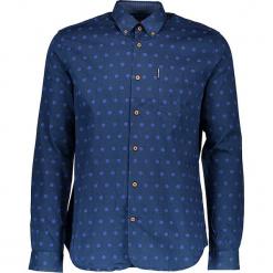 Koszula - Regular Fit - w kolorze granatowym. Niebieskie koszule męskie Ben Sherman, w kropki, z bawełny, button down. W wyprzedaży za 152.95 zł.