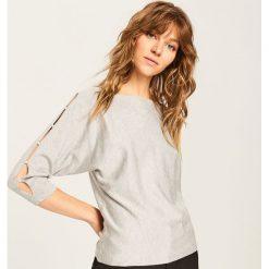 Sweter z ozdobnymi rękawami - Szary. Szare kardigany damskie Reserved. Za 59.99 zł.