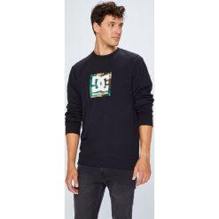 DC - Bluza. Czarne bluzy męskie DC, z nadrukiem, z bawełny. W wyprzedaży za 219.90 zł.