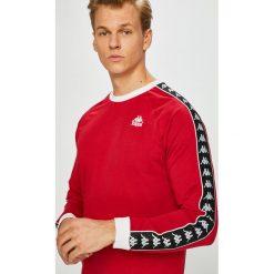 Kappa - Longsleeve. Szare bluzki z długim rękawem męskie Kappa, z nadrukiem, z bawełny, z okrągłym kołnierzem. W wyprzedaży za 199.90 zł.