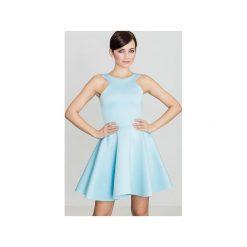 Sukienka K265 Niebieski. Niebieskie sukienki damskie Lenitif. Za 139.00 zł.