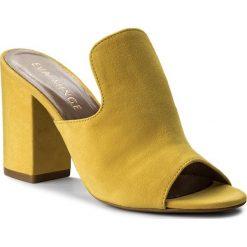 Klapki EVA MINGE - Merida 3P 18CP1372359ES 252. Żółte klapki damskie Eva Minge, z materiału. W wyprzedaży za 299.00 zł.