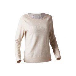 Koszulka Gym 500. Brązowe koszulki sportowe damskie DOMYOS, z bawełny, z długim rękawem. Za 39.99 zł.