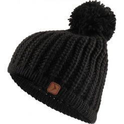 Czapka damska CAD615 - głęboka czerń - Outhorn. Czarne czapki i kapelusze damskie Outhorn, ze splotem. Za 34.99 zł.